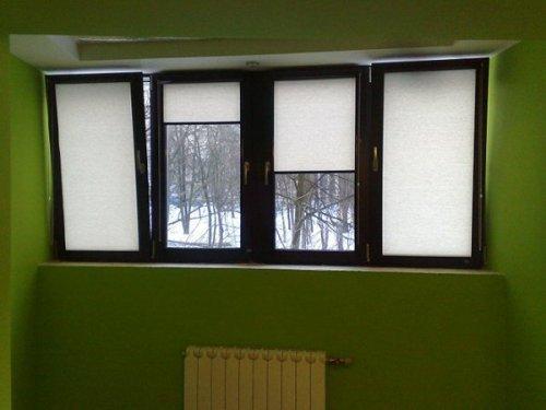 Окна пластиковые тёмного цвета